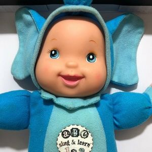 Plush Baby Doll In Elephant Costume Talks ABC 123